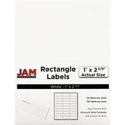 "Jam Paper 1"" x 2.63"" Inkjet/Laser Mailing Address Labels, White, 4/Pack (4062900)"