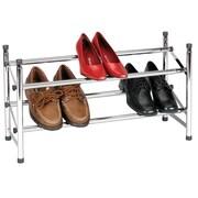Household Essentials Storage and Organization Sliding Rods Shoe Rack with Locking Mechanism