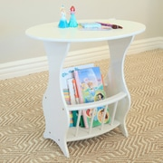 Mega Home Magazine End Table; White