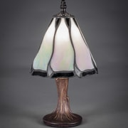 Toltec Lighting 12'' Table Lamp; Pearl and Black