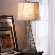 Zingz & Thingz Metal Hatch 29'' H Table Lamp with Bell Shade