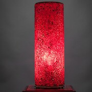 Toltec Lighting 12'' H Table Lamp with Drum Shade; Red