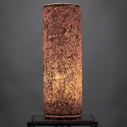 Toltec Lighting 12'' H Table Lamp with Drum Shade; Gold