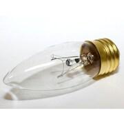 Bulbrite 40W Warm White Incandescent Decorative Blunt Tip E26 base (495040)