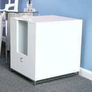 Modern Cat Designs Hider Cat Litter Box; White