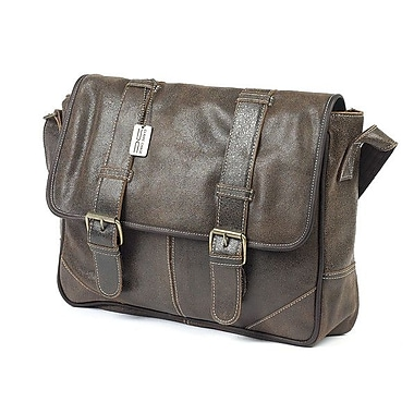 Claire Chase Messenger Bag; Distressed Brown