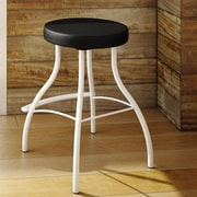 Amisco Bulb 25.88'' Swivel Bar Stool with Cushion; Snow