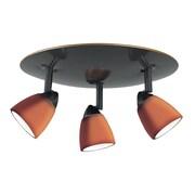 Cal Lighting Serpentine 3 Light Spot Light; Amber Glass