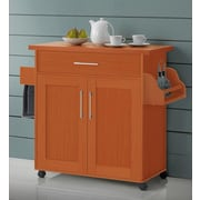Hodedah Kitchen Island; Cherry