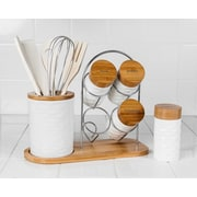 Imperial Home 15 Piece Porcelain and Wooden Utensil Set