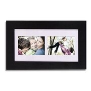 AdecoTrading 2 Opening Wood Wall Hanging Picture Frame with Mat