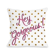 One Bella Casa Hello Gorgeous Dots Polyester Throw Pillow; 18'' x 18''