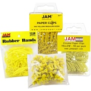 JAM Paper® Office Supply Assortment Pack, Yellow (3224yeOasrt)