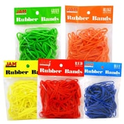 JAM Paper Assorted Rubber Bands, Regular Size, 500/Pack, (333RBrebgyo)