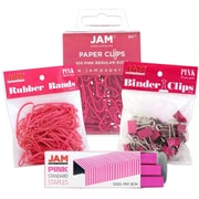 JAM Paper® Pink Desk Supply Assortment Pack, 4 Assorted Packs (3345PIasrtd)