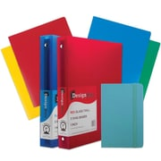 JAM Paper® Back To School Assortments, Heavy Duty Folders, 1in Binders & a Blue Journal, 7/Pack (383CW1Bassrt)