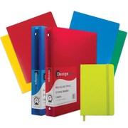 "JAM Paper® Back To School Assortments, Classwork Pack, 4 Heavy Duty Folders, 2 1"" Binders, 1 Journal, Green, 7/pk (383CW1GASSRT)"