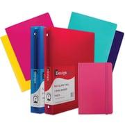 "JAM Paper® Back To School Assortments, Classwork Pack, 4 Heavy Duty Folders, 2 1"" Binders, 1 Journal, Pink, 7/pk (383CW1PASSRT)"