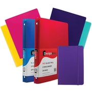 "JAM Paper® Back To School Assortment, Classwork Pack, 4 Heavy Duty Folders, 2 .75"" Binders, 1 Journal, Purple,7pk (383CWPRASSRT)"