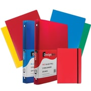 "JAM Paper® Back To School Assortments, Red Classwork Pack, 4 Heavy Duty Folders, 2 0.75"" Binders, 1 Journal, 7/pk (383CWRASSRT)"