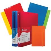 "JAM Paper® Back To School Assortments, Classwork Pack, 4 Glossy Folders, 2 1"" Binders, 1 Journal, Orange, 7/pack (385CW1OASSRT)"