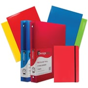 "JAM Paper® Back To School Assortments, Classwork Pack, 4 Glossy Folders, 2 1"" Binders, 1 Journal, Red, 7/pack (385CW1RASSRT)"