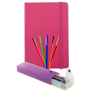 JAM Paper® Back To School Assortments, Artist Writer Pack , Pink includes 5 Fine Point Pen Markers, 1 Pen Case, 1 Journal