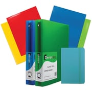 "JAM Paper® Back To School Assortments, Classwork Pack, 4 Glossy Folders, 2 1.5"" Binders, 1 Journal, Blue, 7/pack (CWG15BASSRT)"