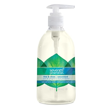 Seventh Generation Hand Wash Liquid, Free & Clean Unscented, 12oz Pump