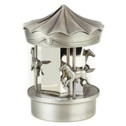 Elegance Silver Plated & Pewter Finish Carousel Money Bank