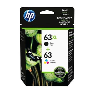 HP - Cartouche d'encre 63 couleur/63XL noir, paquet combiné de 2 (L0R48AN#140)