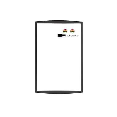 QuartetMD – Tableau magnétique à effacement sec, cadre en plastique, 11 x 17 po, couleurs variées