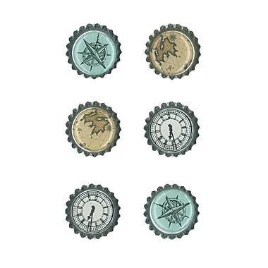 Quartet® Bottle Cap Magnets, 6/Pack
