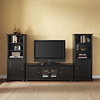 Crosley Alexandria Entertainment Center; Black