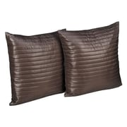 Stayclean Quilted Decorative Indoor/Outdoor Throw Pillow; Taupe