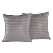 Stayclean Quilted Decorative Indoor/Outdoor Throw Pillow; Pewter