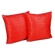 Stayclean Quilted Decorative Indoor/Outdoor Throw Pillow; Coral