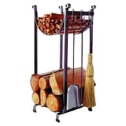 Enclume 3 Piece Steel Fireplace Tool Set with Log Rack