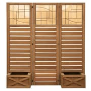 Yardistry Langdon Privacy Screen w/ Planters
