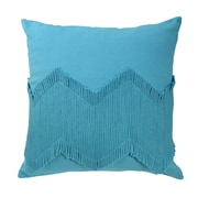 Blissliving Home Mexico City Puebla Decorative Cotton Throw Pillow; Turquoise