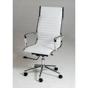 VIG Furniture Modrest Madison Modern High-Back Leather Executive Chair; White