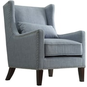 Kingstown Home Jeannette Wingback Arm Chair; Blue