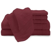 Luxury Home Super Plush Egyptian Cotton 6 Piece Towel Set; Red