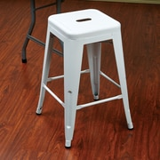 OSP Designs Patterson 24'' Bar Stool (Set of 2); White