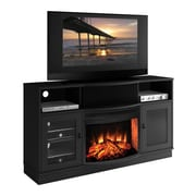 Furnitech Contemporary TV Stand w/ Electric Fireplace