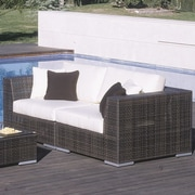 Hospitality Rattan Soho 2 Piece Deep Seating Group with Cushions; Spectrum Graphite