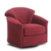 Klaussner Furniture Exeter Glide Chair; Berry Microfiber