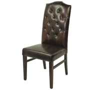 MOTI Furniture True Leather Tufted High Back Side Chair