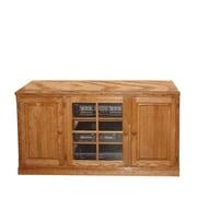 Forest Designs TV Stand; Honey Oak