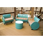 Drum Works Furniture Outer Banks 4 Piece Seating Group with Cushions